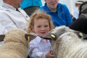 child at Cornwall show