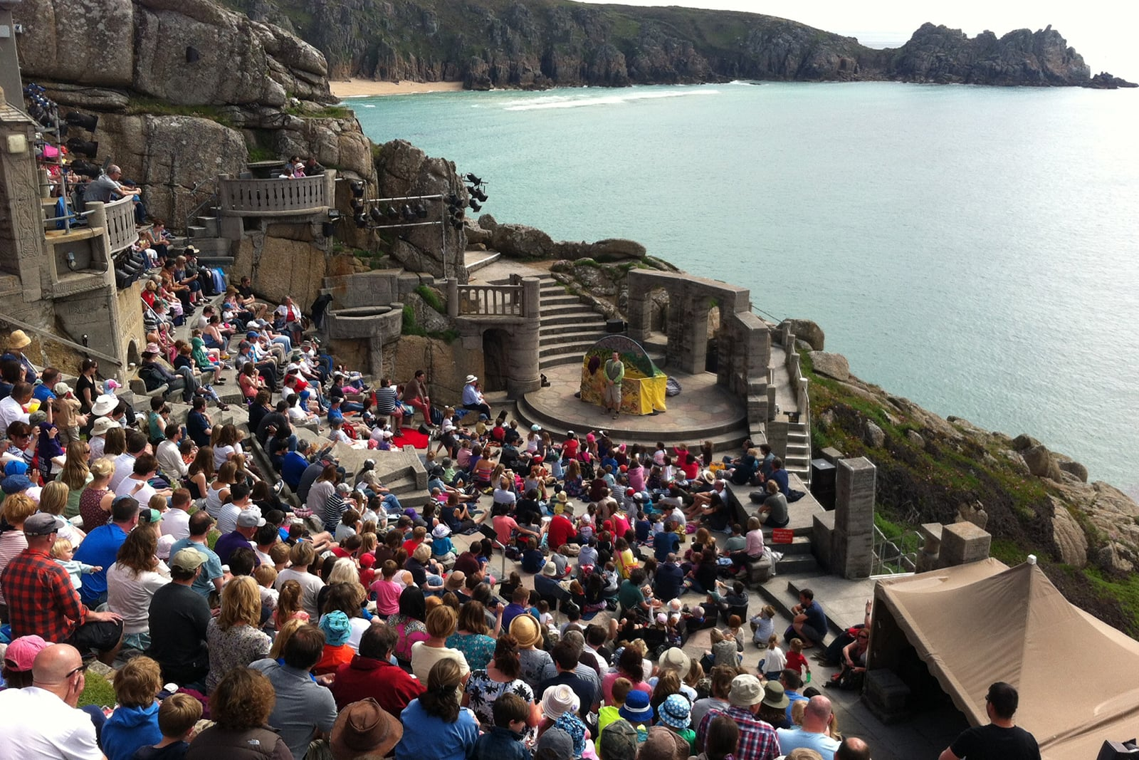 audience at Minack