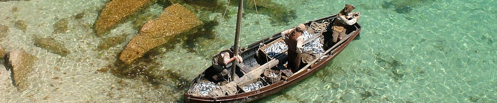 boat scene from Poldark