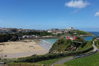 view over Newquay