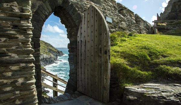 door in old wall at Tintagel