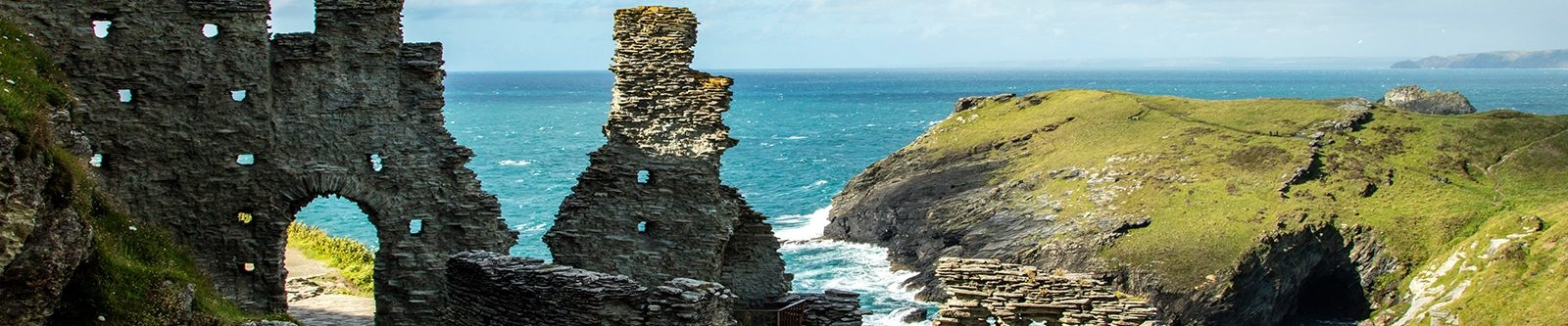 view over Tintagel Castle