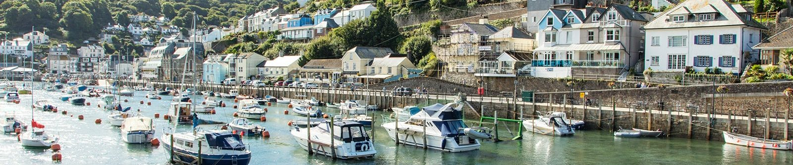 boats at Looe in south Cornwall