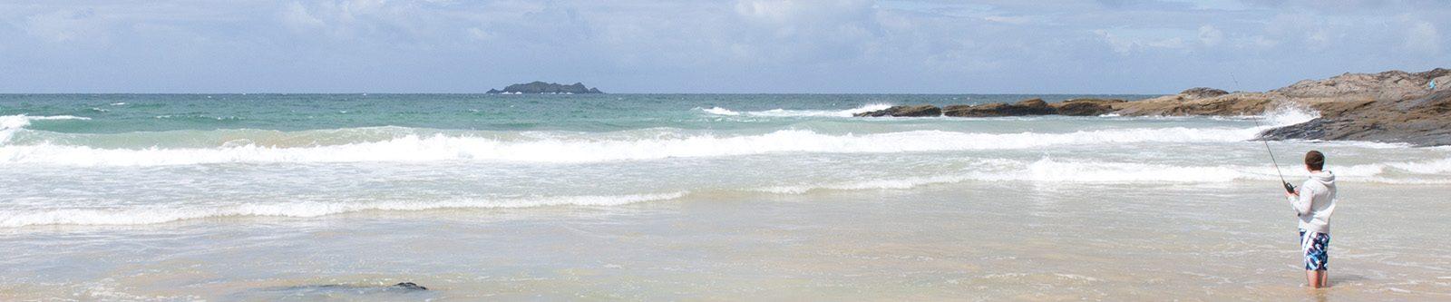 waves at Harlyn Bay
