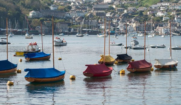 boats in Fowey harbour