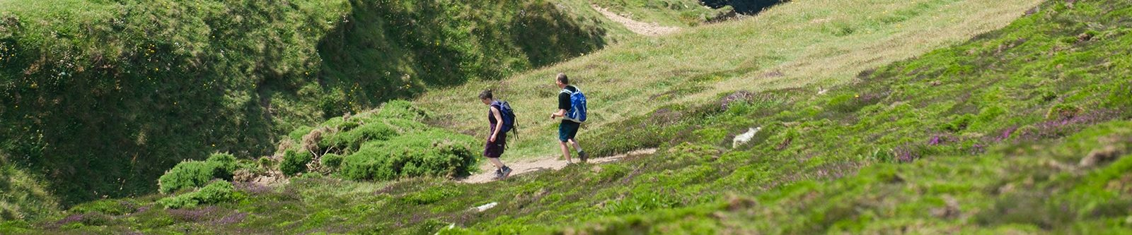 walkers in Cornwall