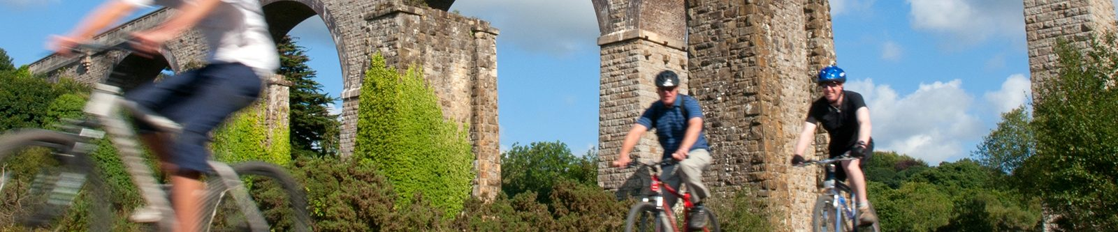 cyclists on Bissoe Trail