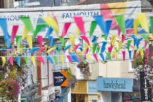 bunting over high street