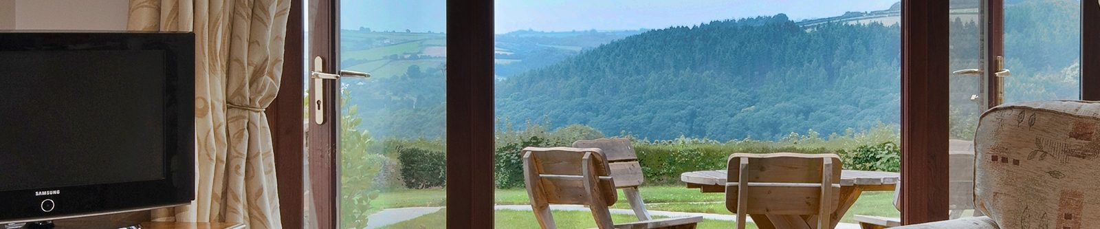 view from a cottage