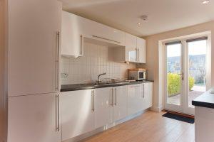 bay retreat kitchen and doors