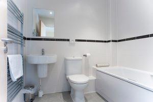 Interior of villa bathroom