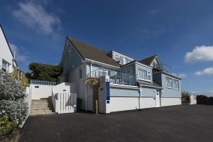 exterior of mawgan porth apartments