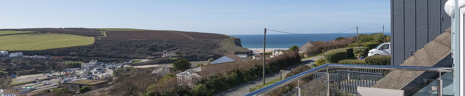 view from Mawgan Porth Apartments