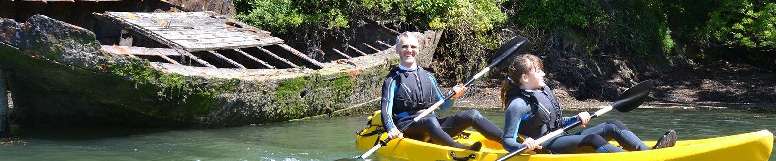 exploring by kayak