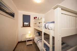 white lodge bunk beds