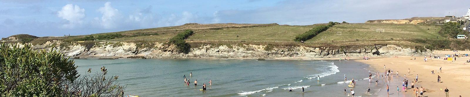 Porth beach from cliffs