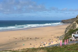view across Watergate Bay