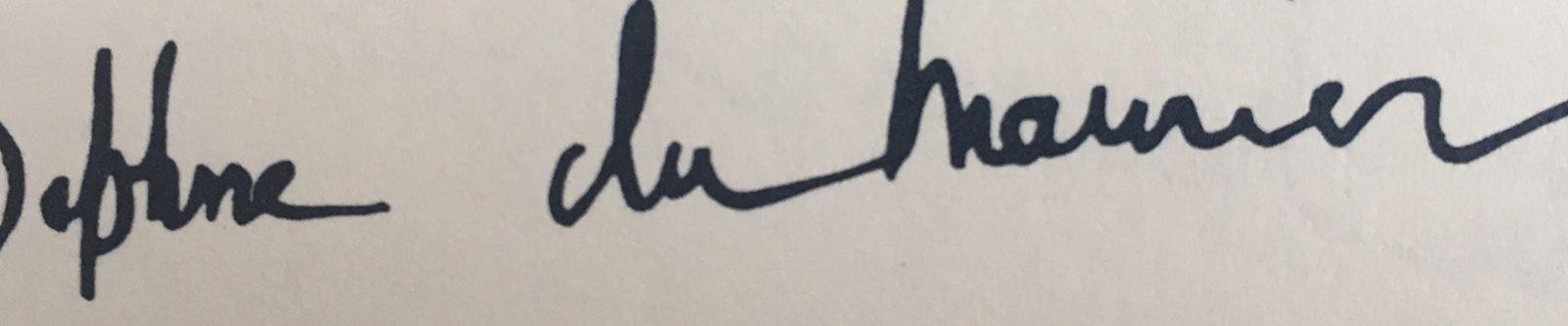 Daphne du Maurier's signature