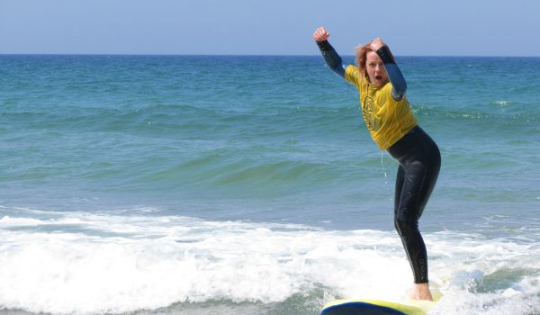 lady on surf board