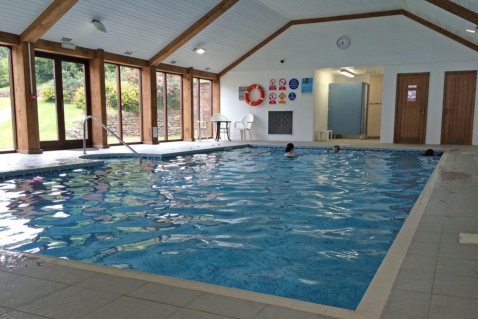 indoor swimming pool at Green Acres Cottages