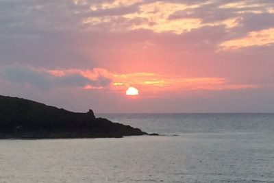 sunset over porth