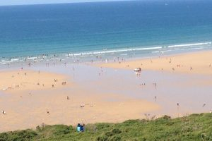 beach and sea at Watergate Bay