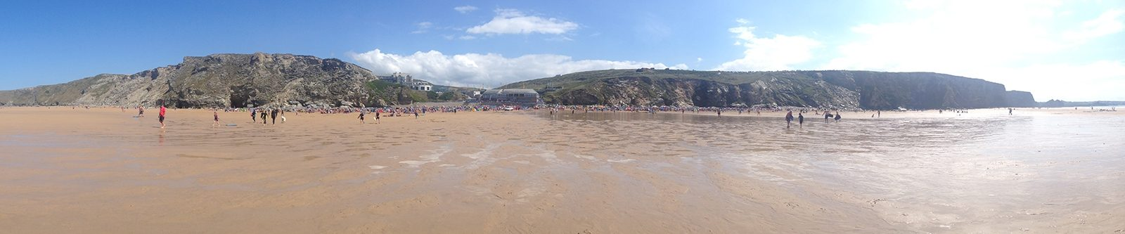 Watergate Bay from the sea