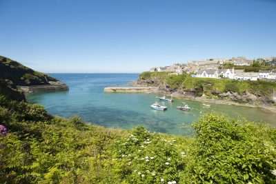 harbour scene at Port Isaac