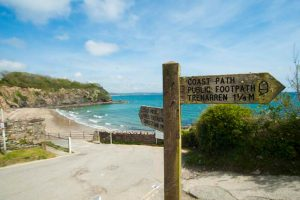 signpost at Porthpean