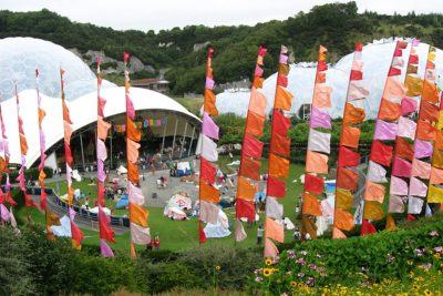 Flags outside the Eden Project