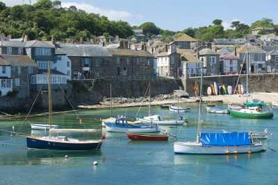Mousehole harbour and boats
