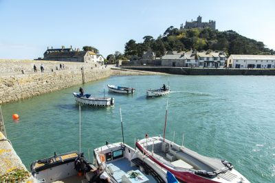 boats at St Michaels Mount
