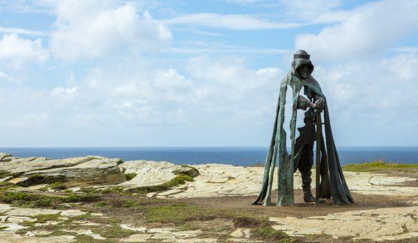 Tintagel statue of King Arthur