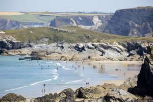 Porth beach from south
