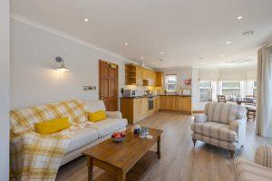 Penthouse - open plan living room