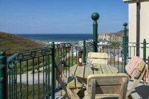 Penthouse balcony views