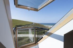 Penthouse double bedroom Juliet balcony